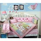 SoHo Classic Cottage Baby Crib Nursery Bedding Set with Diaper bag, changing pad, bottle case 13 pcs set