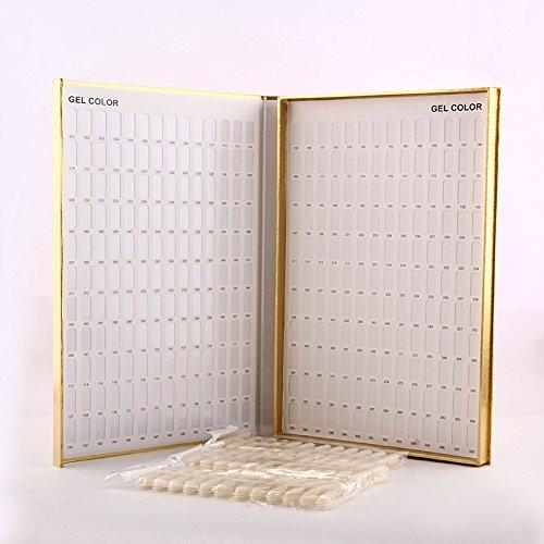 MAKARTT® Golden 120 / 216 / 308 Nail Color Chart Display Book Nail Polish UV Gel Color Display Nail Art Tools- For Nail Salons & DIY Nail Art At home (308) (Nail Display Chart compare prices)