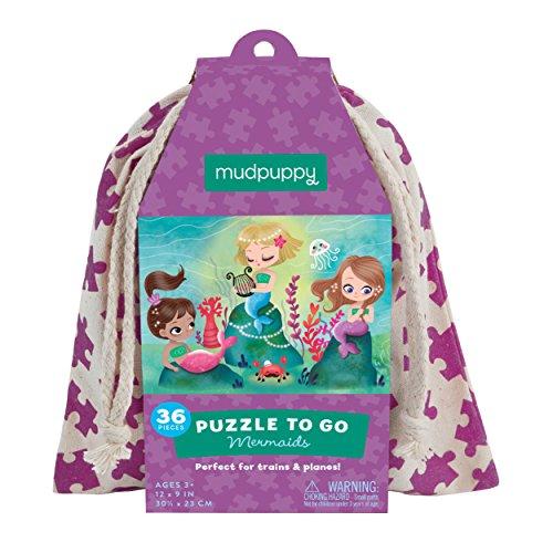 Mudpuppy Mermaids to Go Puzzle (36 Piece) - 1