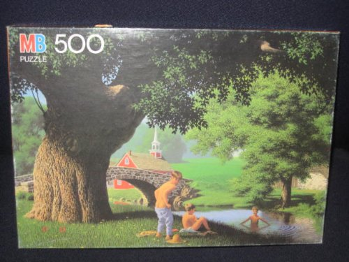 1987 MB Good Old Days - 500 Piece Puzzle - Swimming Hole - 1