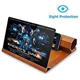 Molevet Screen Magnifier 3D Mobile Phone Movies Amplifier with Foldable Holder Stand