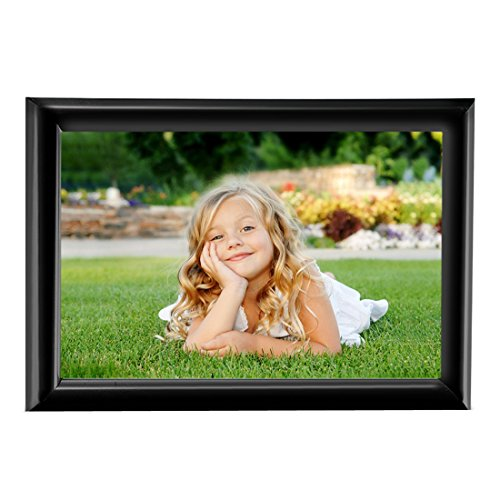 BOJIN 6x8 Inch Picture Frame Without Mat Plastic Home Fun Collage Table Top Photo Frame - Black (8x6 Picture Frame compare prices)