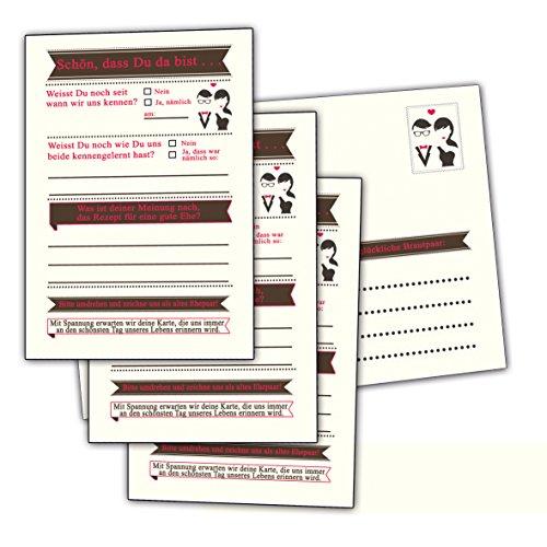 hochzeitsspiele gute w nsche zur hochzeit brautpaar trauung 60 postkarten 52 8 in. Black Bedroom Furniture Sets. Home Design Ideas