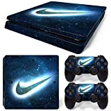 MagicSkin Skin Sticker Wrap Cover Vinyl Decal for Playstation PS4 Slim Console and 2 Controllers (Color: G)