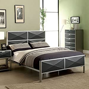 Largo contemporary style metal finish 5 piece for Bedroom furniture amazon
