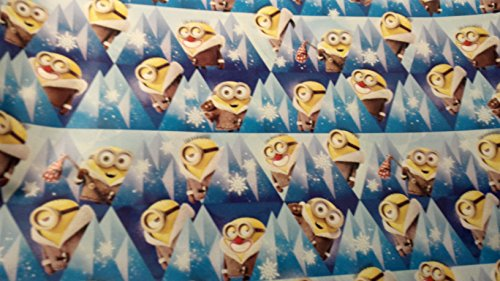 [Christmas Wrapping Despicable Me Minions Holiday Paper Gift Greetings 1 Roll Design Festive Wrap Minion Dark Blue] (Despicable Me Costume Walmart)