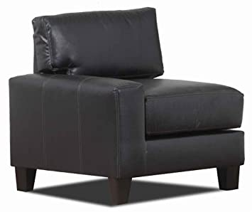 33.5 in. Modern Left Armchair (Black)