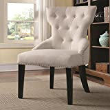 Coaster Home Furnishings 902238 Casual Accent Chair, Espresso/White
