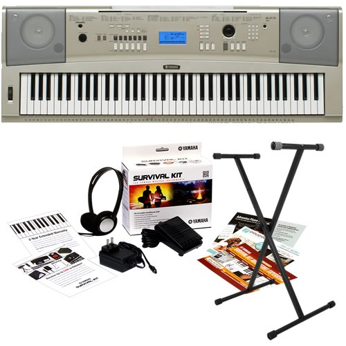 Yamaha YPG-235 Portable Grand Keyboard BUNDLE - w/ Stand and Survival Kit (Ypg 235 Stand compare prices)