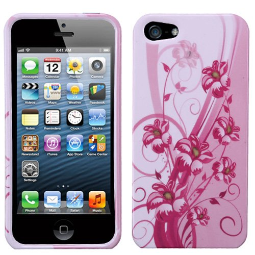 (Spring Lilies) Sumaclife Crystal Snap On Faceplate Shield Protector Case Cover For Apple Iphone 5 (16Gb 32Gb 64Gb)