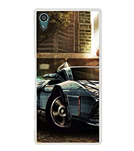 Racing Car 2D Hard Polycarbonate Designer Back Case Cover for Sony Xperia Z5 :: Sony Xperia Z5 Dual