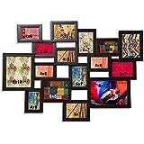 Crescita Design - Collage Photo Frame, Brown Color( Photo Size - 110x5x88 , 16 Photo).