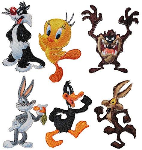 2-tlg-set-bugelbilder-looney-tunes-circa-54-cm-74-cm-tweety-sylvester-daffy-duck-bugs-bunny-coyote-t