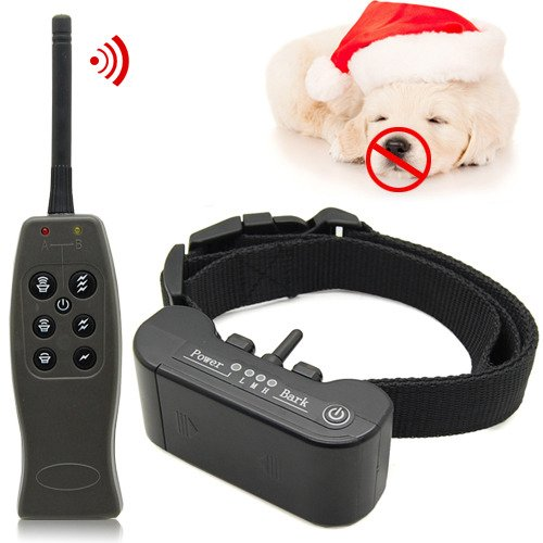 Pet Dog Training Vibrate Electric Shock Anti No Bark Collar 1000M Remote Control