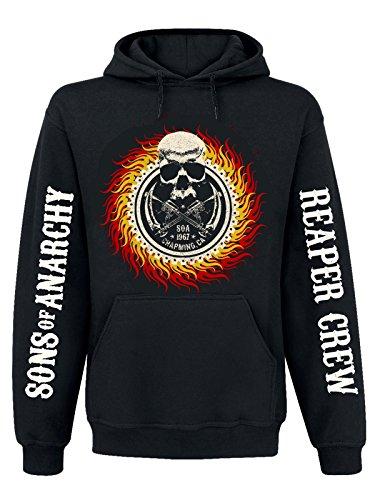 Sons Of Anarchy Flames Felpa con cappuccio nero S