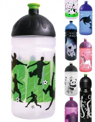 ISYbe-Trinkflasche-500ml-Fuballer-wei-transparent-schadstofffrei-splmaschinengeeignet-auslaufsicher