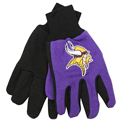 NFL Team Logo Grip Gloves - Minnesota Vikings