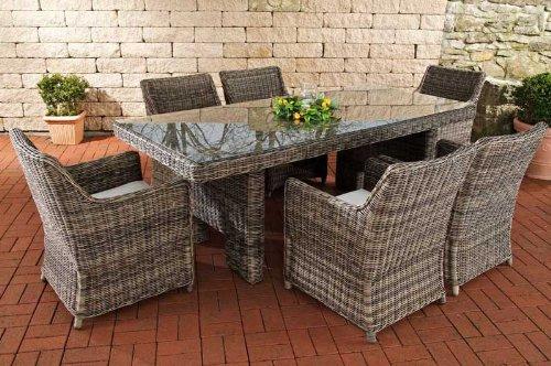 clp poly rattan gartenm bel sitzgruppe sandnes 6 st hle. Black Bedroom Furniture Sets. Home Design Ideas