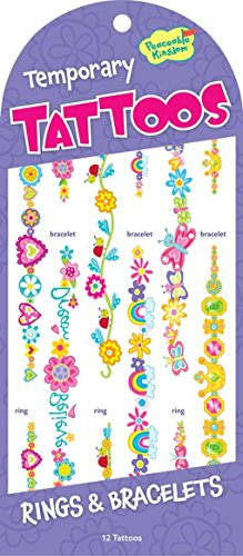 Peaceable Kingdom Rings and Bracelets Temporary Tattoos