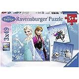 Ravensburger - 09264 - Puzzle Classique - La Reine Des Neiges Aventures - 3 X 49 Pièces