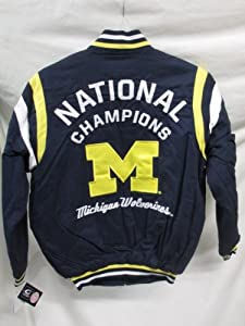 G-III Michigan Wolverines Mens X-Large Full Zip 11 Time National Champions Cotton... by G-III Sports