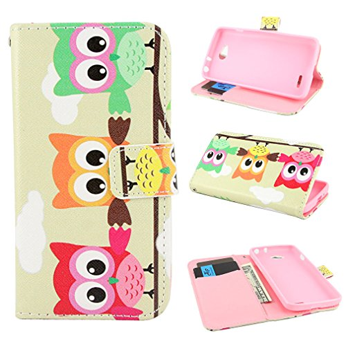 PpIiNnKk Painting Art Design Wallet PU Leather Stand Flip Case Cover for LG Optimus L70 / D325