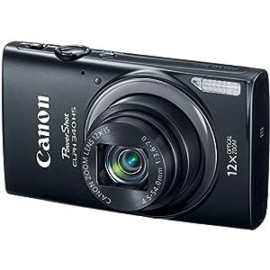 Canon PowerShot ELPH 340 HS 4 x Digital,12xZoom Optical Zoom 16MP Digital Camera (Black) (Certified Refurbished)