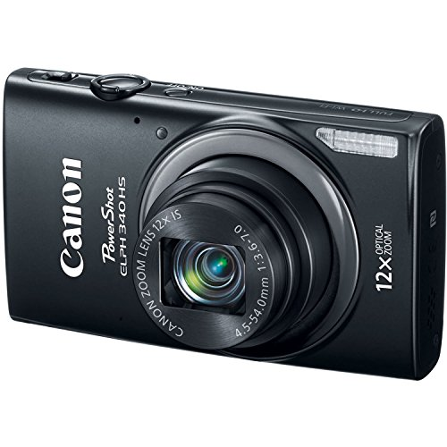 Canon PowerShot ELPH 340 HS 4 x Digital,12xZoom Optical Zoom 16MP Digital Camera (Black) (Certified Refurbished) (Canon Powershot Sx40 Hs Manual compare prices)