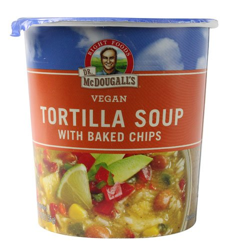 Dr. McDougall's Big Cup Vegan Soup Tortilla with Baked Chips -- 2 oz - 2 pc