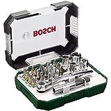 Bosch 26-teiliges Schrauberbit- und Ratschen-Set mit Farbcodierung, 2607017322