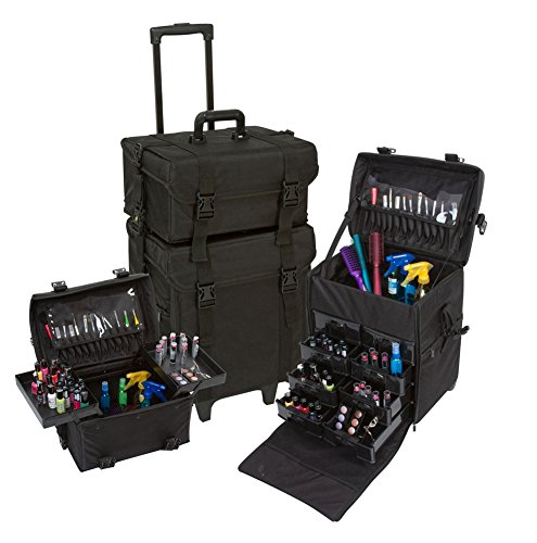 2-in-1-makeup-case-nylon-wheeled-trolley-makeup-train-case-cosmetic-organizer