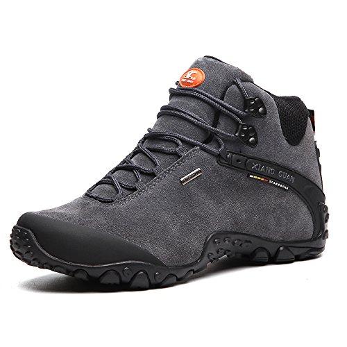 Scarpe uomo da escursionismo & stivali in pelle scamosciata per invernali 82287 Grigio EU 45