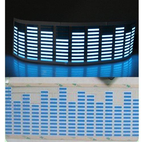 Kevindeal(Tm) 70*16Cm Car Sound Music Activated Sensor Stickers Equalizer Glow Blue Led Light (Space Saving, Low Power Consumption)