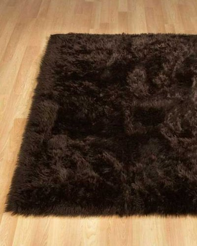 Rectangle Sheepskin Rug - Brown (2x3 ft)