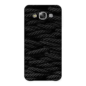 Premium Rope Pattern Back Case Cover for Galaxy E7