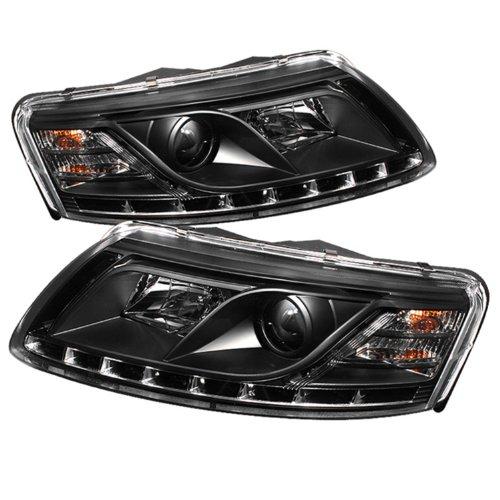 Spyder Auto Audi A6 Black Drl Led Crystal Headlight
