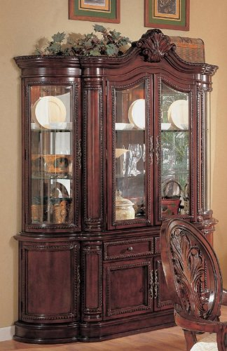 Cheap Cherry Finish Lighted Dining Room China Cabinet Buffet (VF_AZ00-45611×28241)