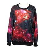 RoKo Fashion Women's Galaxy Print round neck sweatershirt,One size