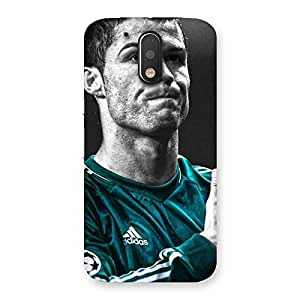 Ajay Enterprises Football player Back Case Cover for Motorola Moto G4 Plus