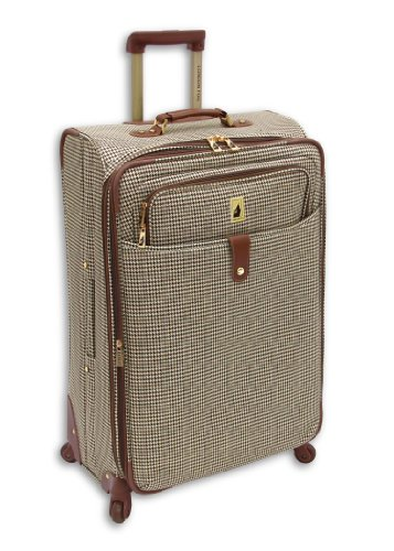 London Fog Chelsea 25 Inch 360 Expandable Upright Suiter, Olive Plaid, One Size best price