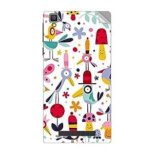 Garmor Designer Mobile Skin Sticker For LG Optimus L4 II Dual E445 - Mobile Sticker