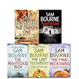 Sam Bourne Sam Bourne Collection 5 Books Set, (Pantheon, The Chosen One, The Righteous Men , The Final Reckoning, The Last Testament)
