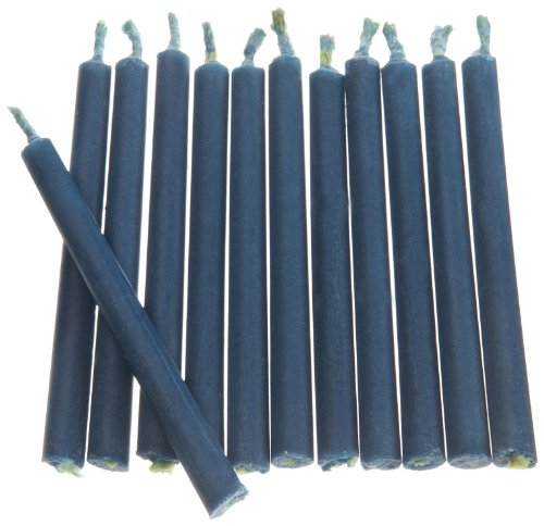 Wilton Blue Color Flame Candles, 12 Count