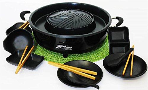 TomYang-BBQ-inkl-Premium-Zubehr-fr-2-Personen-Der-original-Thai-Grill-und-Hot-Pot-Die-gesunde-Schlankmacher-Kche-aus-Fernost-als-Tischgrill-Elektrogrill-und-Asia-Fondue-Grillen-und-Kochen-ohne-Zugabe-