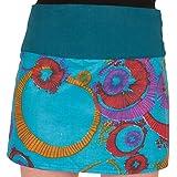 Minirock in trendigen Farben mit Druckknöpfen
