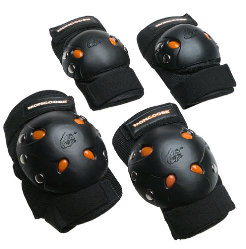 Buy Discount Mongoose BMX Bike Gel Knee and Elbow Pads