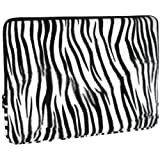 Zebra Animal Print Faux-fur Carrying Case Sleeve for Apple MacBook 13 inch Notebook Laptop Computer