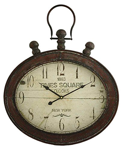 Aspire 5990 Remington Oval Wall Clock, Red