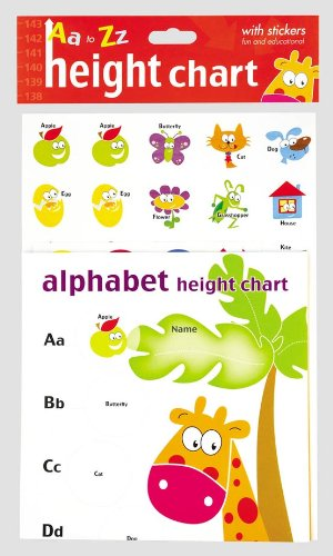 Imagen principal de Alfabeto Tabla de estatura y pegatinas