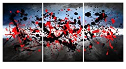 Maxwell Dickson BeautifulMind-24x36 ''Beautiful Mind'' 3 Piece Canvas Set Abstract Modern Artwork, 24'' x 36''